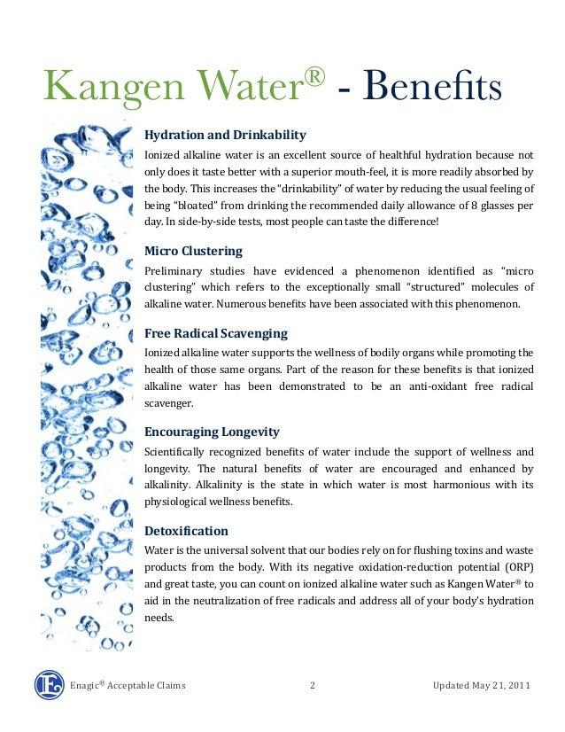Kangen Water Benefits Slide 2