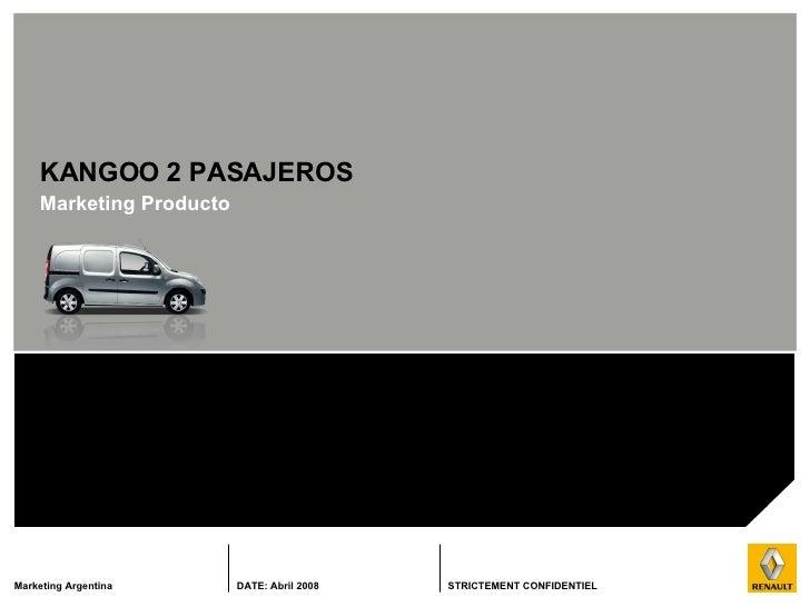 KANGOO 2 PASAJEROS Marketing  Producto
