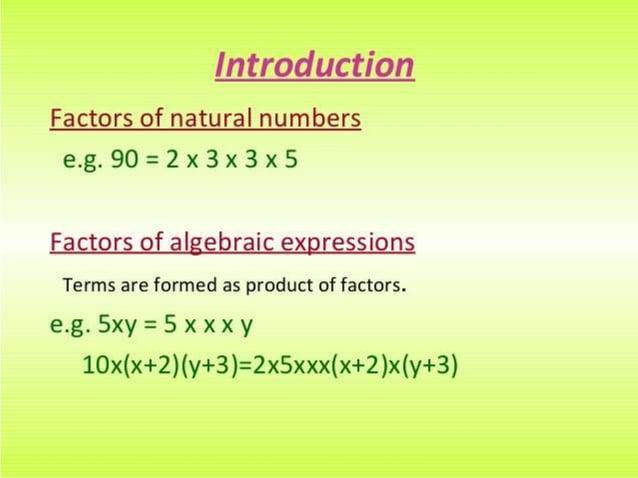 factorisation maths PPT by kanishk schdeva class 8th