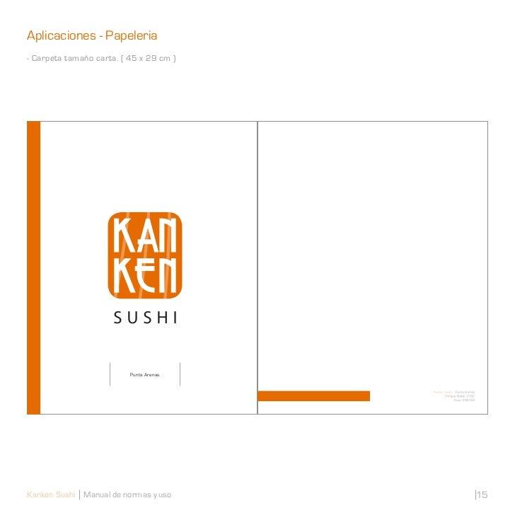 Aplicaciones - Papeleria- Carpeta tamaño carta. ( 45 x 29 cm )                          Punta ArenasKanken Sushi Manual de...