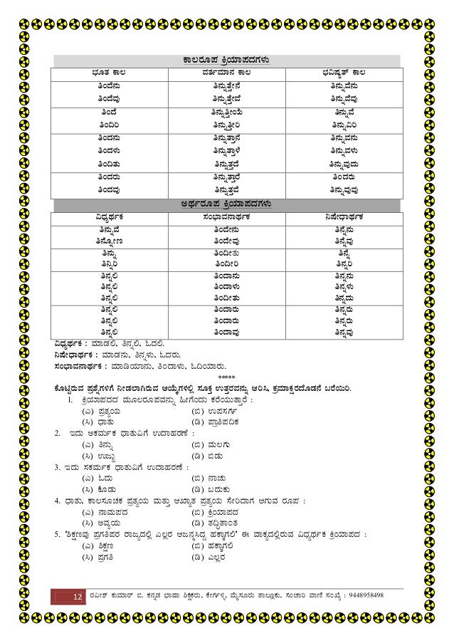 Teachers eligibility test: kannada grammar for kar tet.
