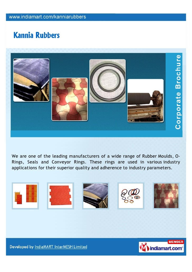 We are one of the leading manufacturers of a wide range of Rubber Moulds, O-Rings, Seals and Conveyor Rings. These rings a...