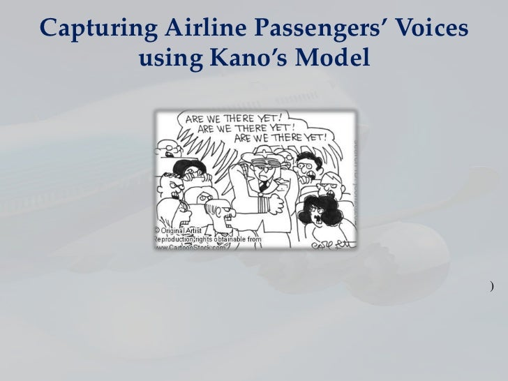 Capturing Airline Passengers' Voices        using Kano's Model                                       )