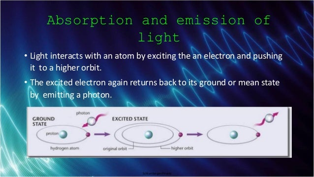 Schlumberger-Private Absorption and emission of light • Light interacts with an atom by exciting the an electron and pushi...