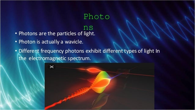 Schlumberger-Private Photo ns • Photons are the particles of light. • Photon is actually a wavicle. • Different frequency ...