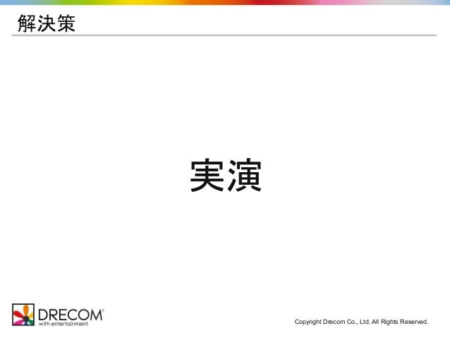 Copyright Drecom Co., Ltd. All Rights Reserved. 解決策 実演