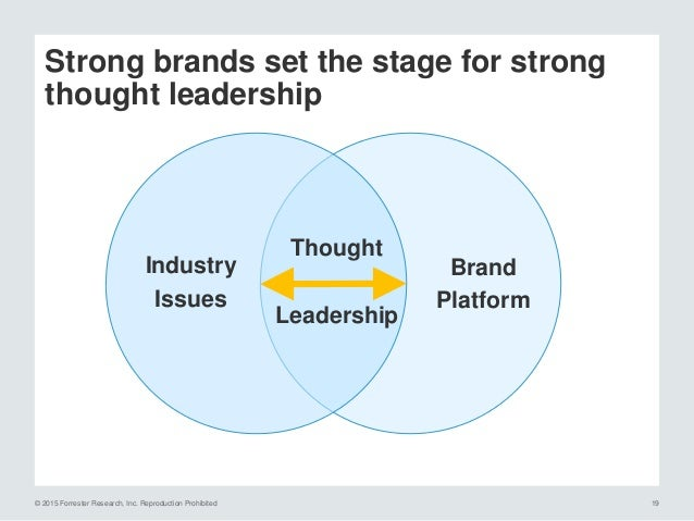 © 2015 Forrester Research, Inc. Reproduction Prohibited 20 True thought leadership embodies bold attributes Source: 2015 F...