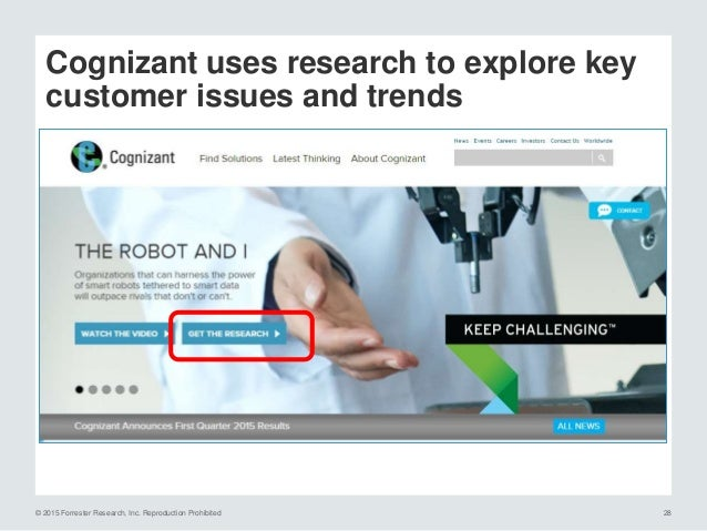 © 2015 Forrester Research, Inc. Reproduction Prohibited 29 KPMG: highlights global perspectives Source: World Economic For...