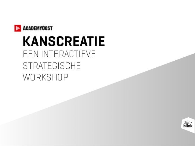 KANSCREATIE EEN INTERACTIEVE
