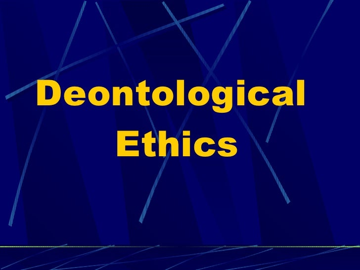 workplace example of deontological ethics