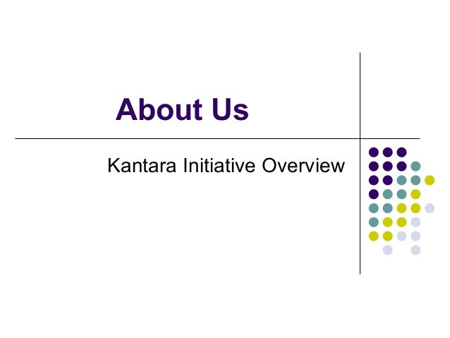 About Us Kantara Initiative Overview