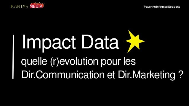 Powering Informed Decisions Impact Data quelle (r)evolution pour les Dir.Communication et Dir.Marketing ?