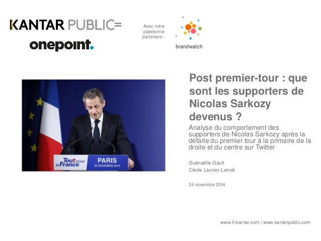 Post premier-tour : que sont les supporters de Nicolas Sarkozy devenus ? Analyse du comportement des supporters de Nicolas...
