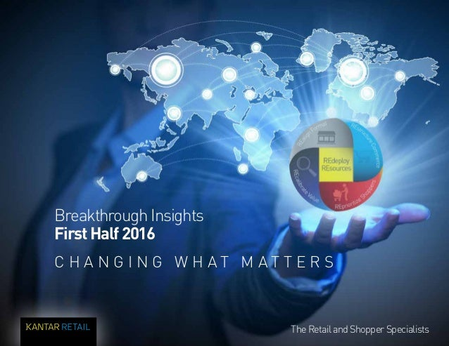 1 The Retail and Shopper SpecialistsThe Retail and Shopper Specialists Breakthrough Insights FirstHalf2016 C H A N G I N G...