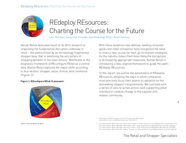 The Retail and Shopper Specialists 3 REdeploy REsources: Charting the Course for the Future Kantar Retail dedicated much o...