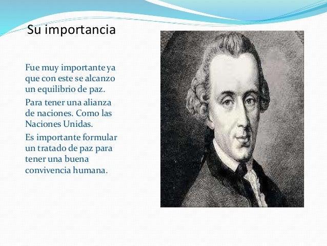 Kant Influencia Paz Perpetua
