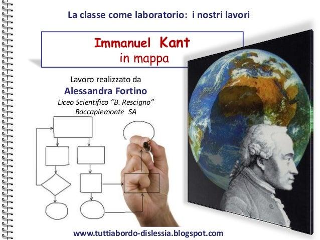 La classe come laboratorio: i nostri lavori           Immanuel Kant              in mappa    Lavoro realizzato da  Alessan...