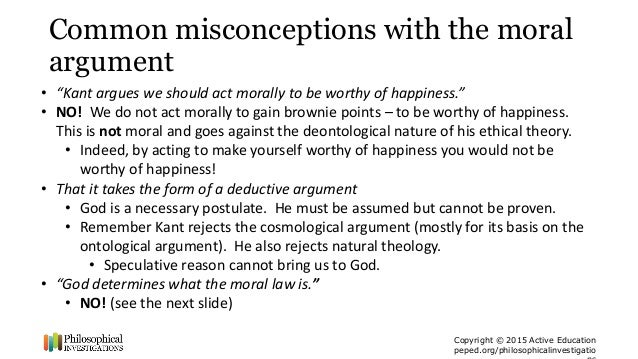 Argument from morality