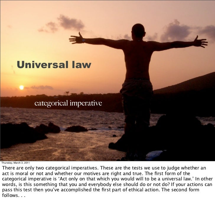 a comparison of universal law by kant and mill The british philosopher john stuart mill is famous for creating a theory of utilitarianism based can we will that this should become a universal law kant would.