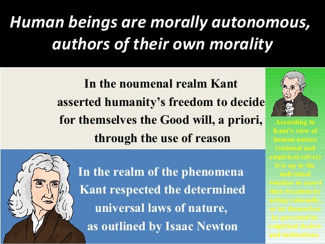 according to kant universal laws are what