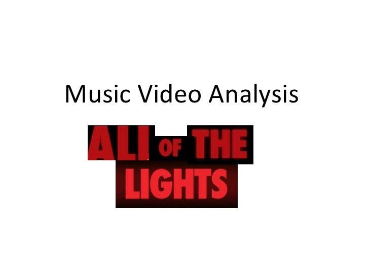 Music Video Analysis<br />
