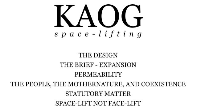 A Church Space-Lifting Architecture -  Kajang Assembly Of God (KAOG)