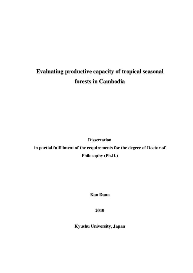 Phd thesis philosophy