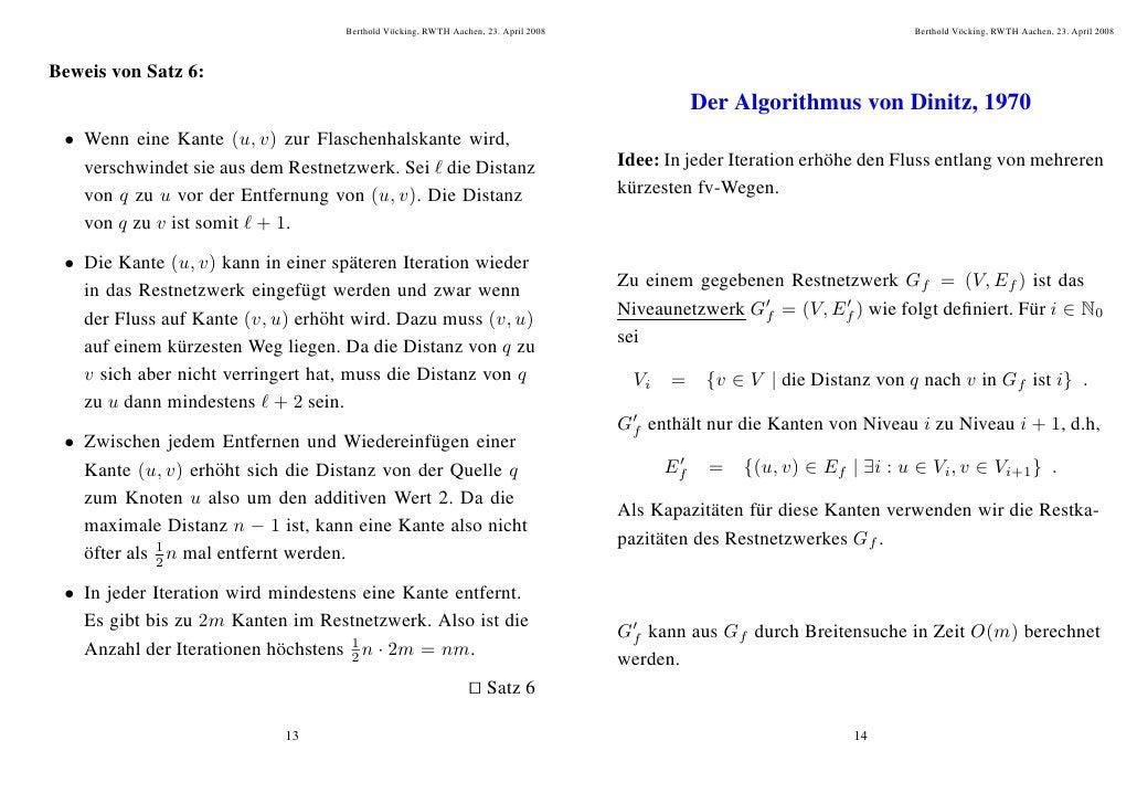Berthold V¨ cking, RWTH Aachen, 23. April 2008                                               o                            ...