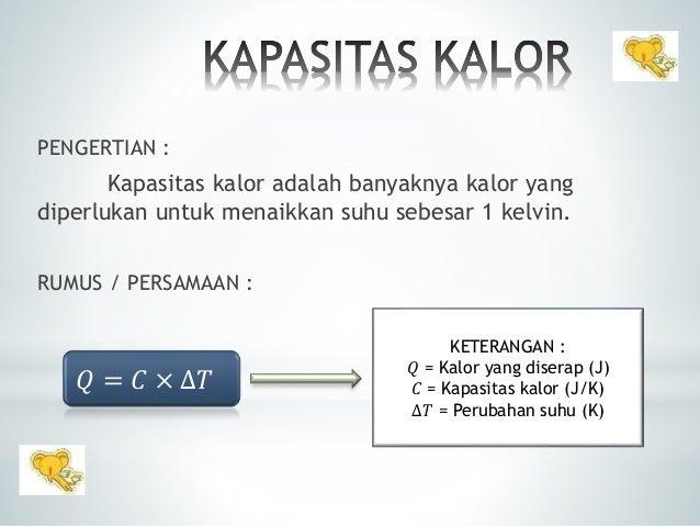 Kapasitas kalor 2 pengertian kapasitas kalor adalah ccuart Gallery