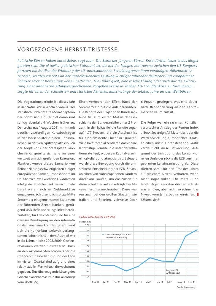 Aktuelle Informationen aus dem Kapitalmarkt - Oktober 2011 Slide 3