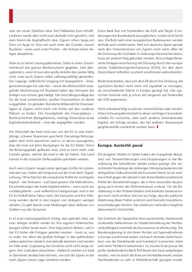 Kapital und Märkte 04.2013 Slide 2