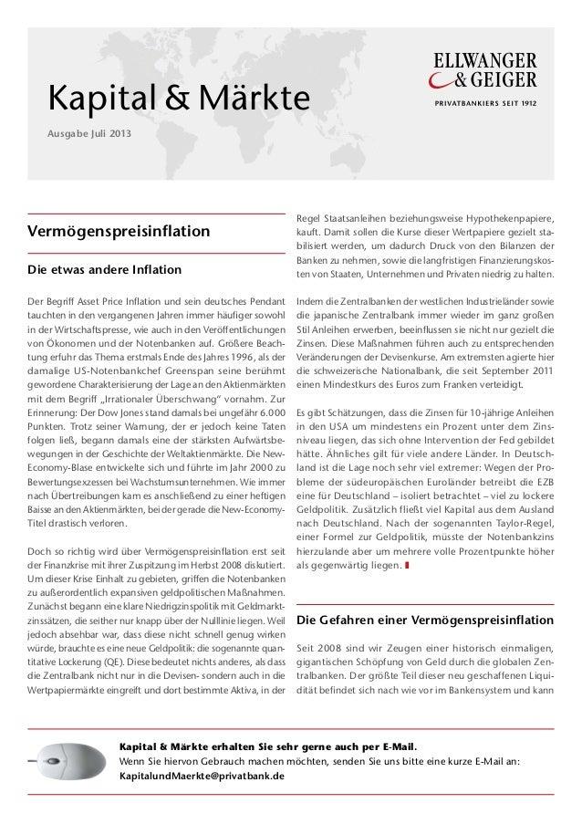 Vermögenspreisinflation Die etwas andere Inflation Der Begriff Asset Price Inflation und sein deutsches Pendant tauchten i...