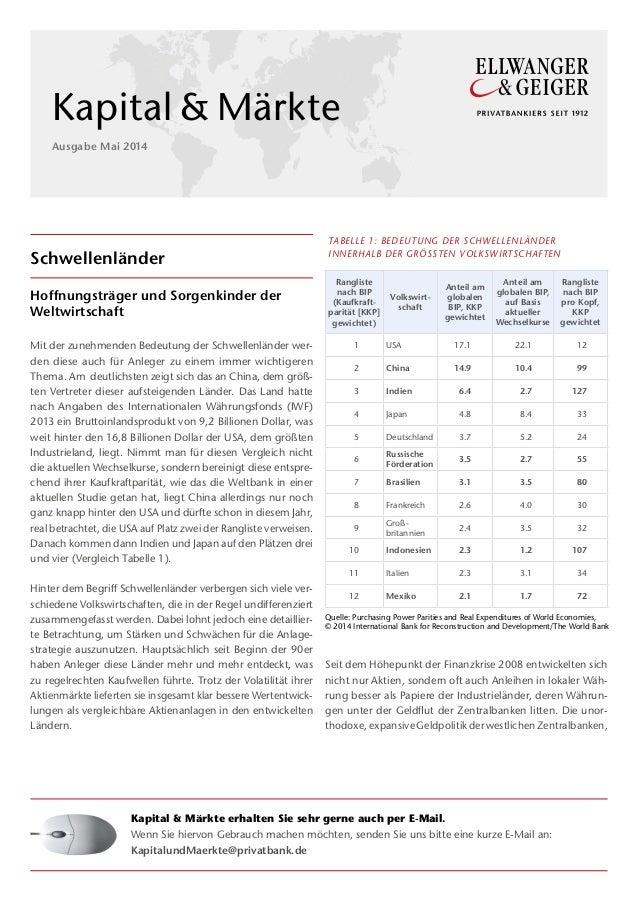 Schwellenländer Hoffnungsträger und Sorgenkinder der Weltwirtschaft Mit der zunehmenden Bedeutung der Schwellenländer wer-...