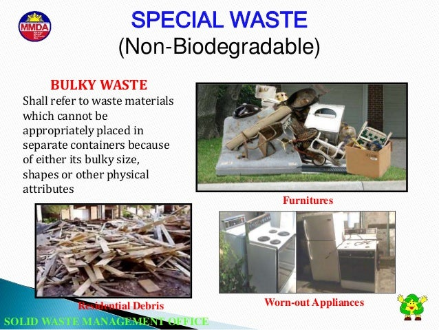 non biodegradable solid waste