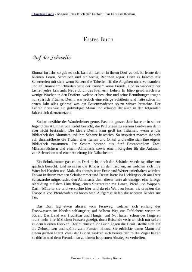 Claudius Gros - Mageia, das Buch der Farben. Ein Fantasy Roman. Erstes Buch AufderSchwelle Einmal im Jahr, so gab es sic...