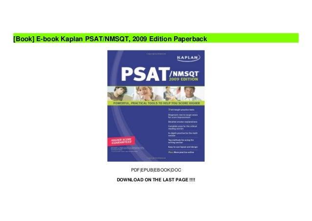 E-book Kaplan PSAT/NMSQT, 2009 Edition Paperback Slide 2