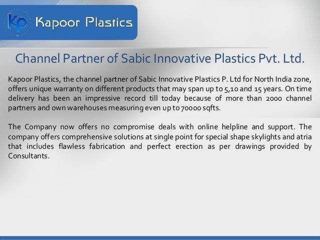 Kapoor Plastics Distributor of Lexan Polycarbonate Sheets