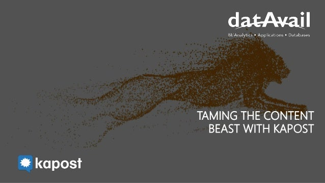 TAMING THE CONTENT BEAST WITH KAPOST