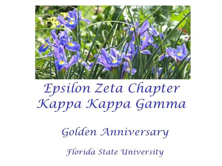 Epsilon Zeta Chapter Kappa Kappa Gamma Golden Anniversary Florida State University