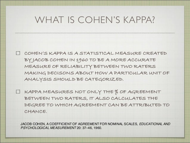 Using Cohens Kappa To Gauge Interrater Reliability