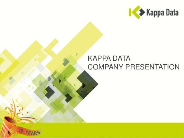 KAPPA DATACOMPANY PRESENTATION