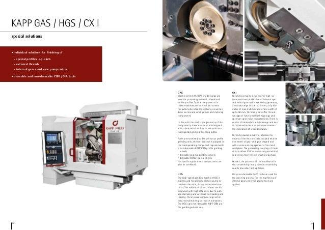 Kapp Niles CNC Gear Grinders Product Line Brochure
