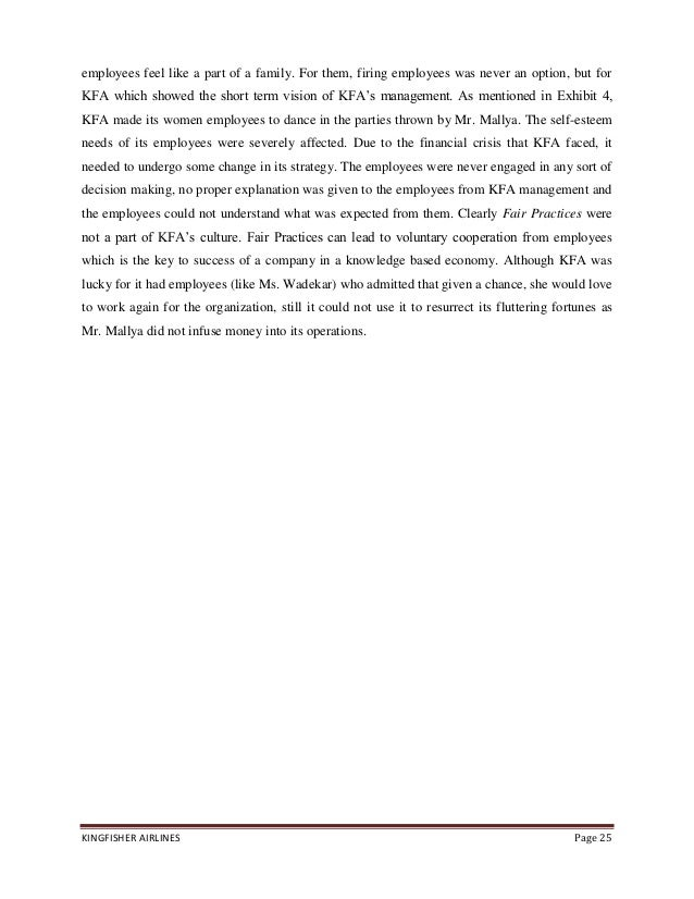 project report on kingfisher airlines A project report on how kingfisher airlines went from being the largest domestic airline to being locked out in the cold marketing management, marketing mix.