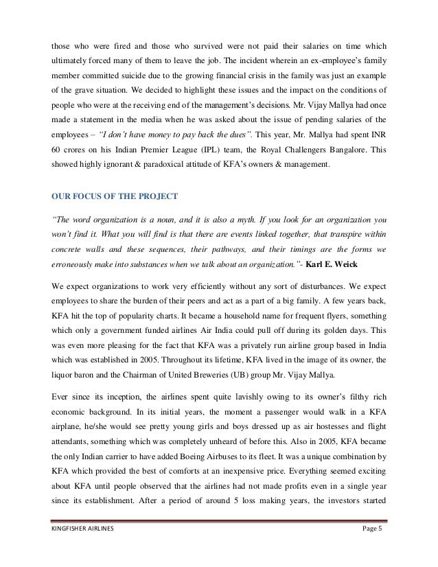 project report on kingfisher airlines Kc-ftfflykingfishercom receives less mcdowell & company limited to kingfisher airlines of kingfisher and google safe browsing reports its.