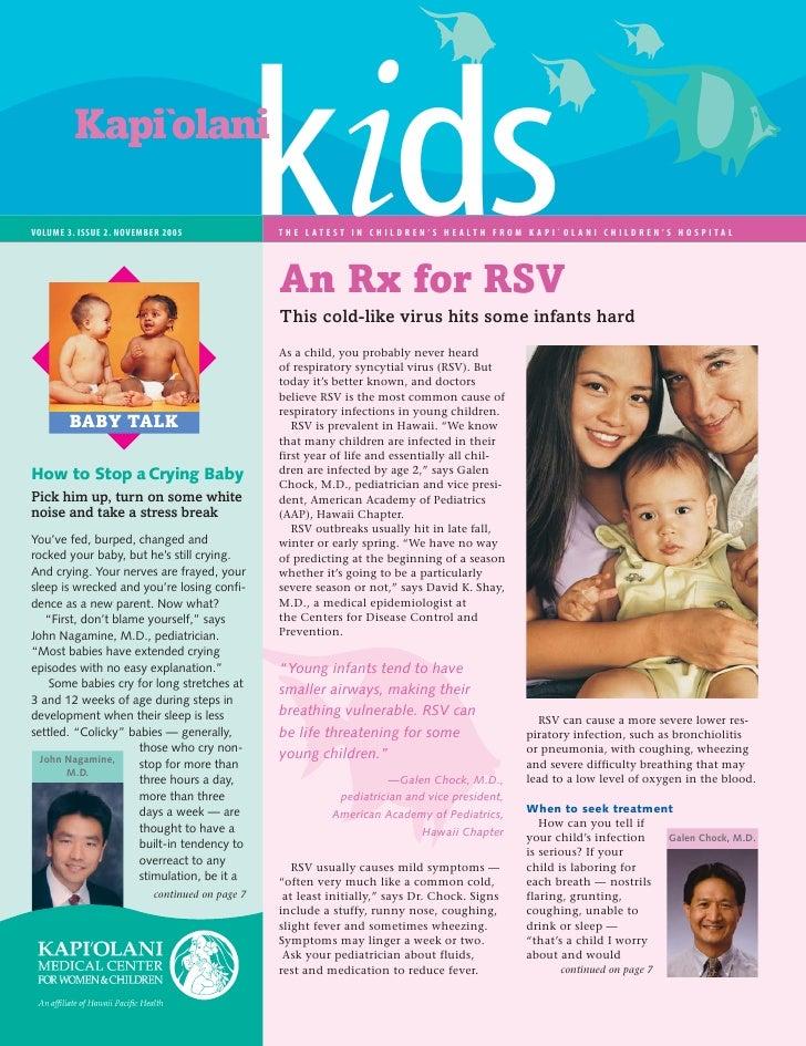 Kapi`olani  VOLUME 3. ISSUE 2. NOVEMBER 2005 VOL 1. ISSUE 1                                                kids           ...