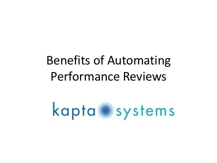 Benefits of Automating Performance Reviews