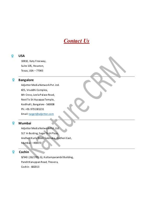 Contact Us USA 10810, Katy Freeway, Suite 105, Houston, Texas,USA – 77043 Bangalore AdjetterMediaNetworkPvt.Ltd. #25, Vrud...