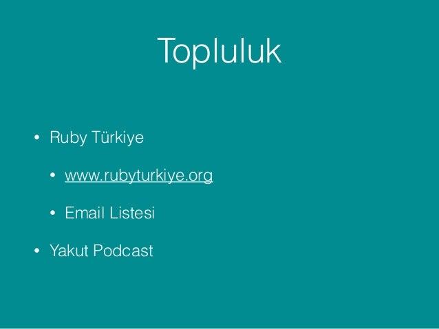 Ruby - Dünyanın En Güzel Programlama Dili