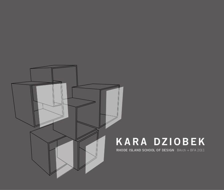 Kara Dziobek RISD Architecture Portfolio