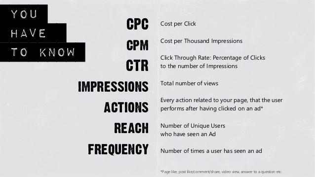 You                  CPC   Cost per Clickhave                  cpm                        Cost per Thousand Impressionsto ...